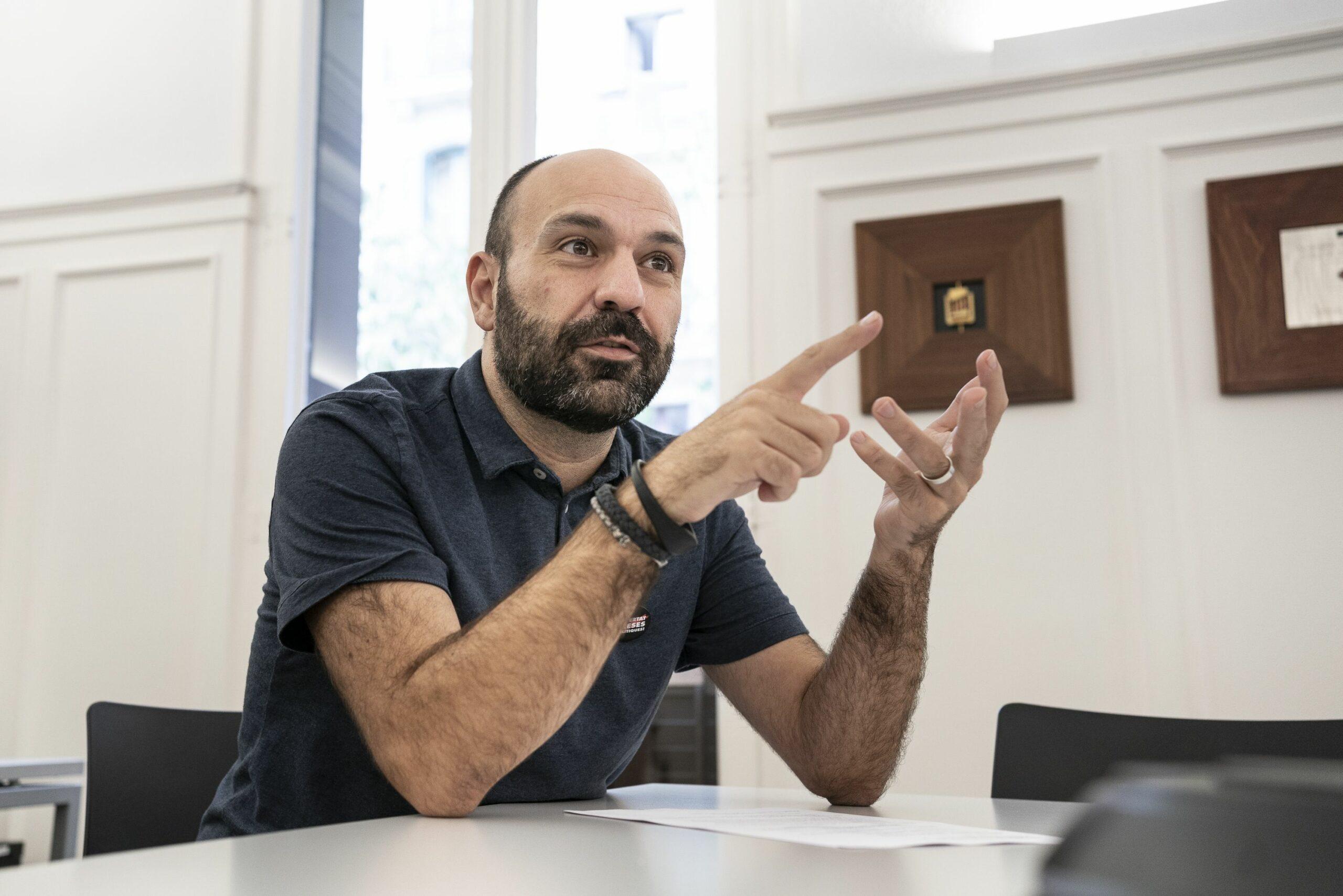 El vicepresident d'Òmnium Cultural, Marcel Mauri