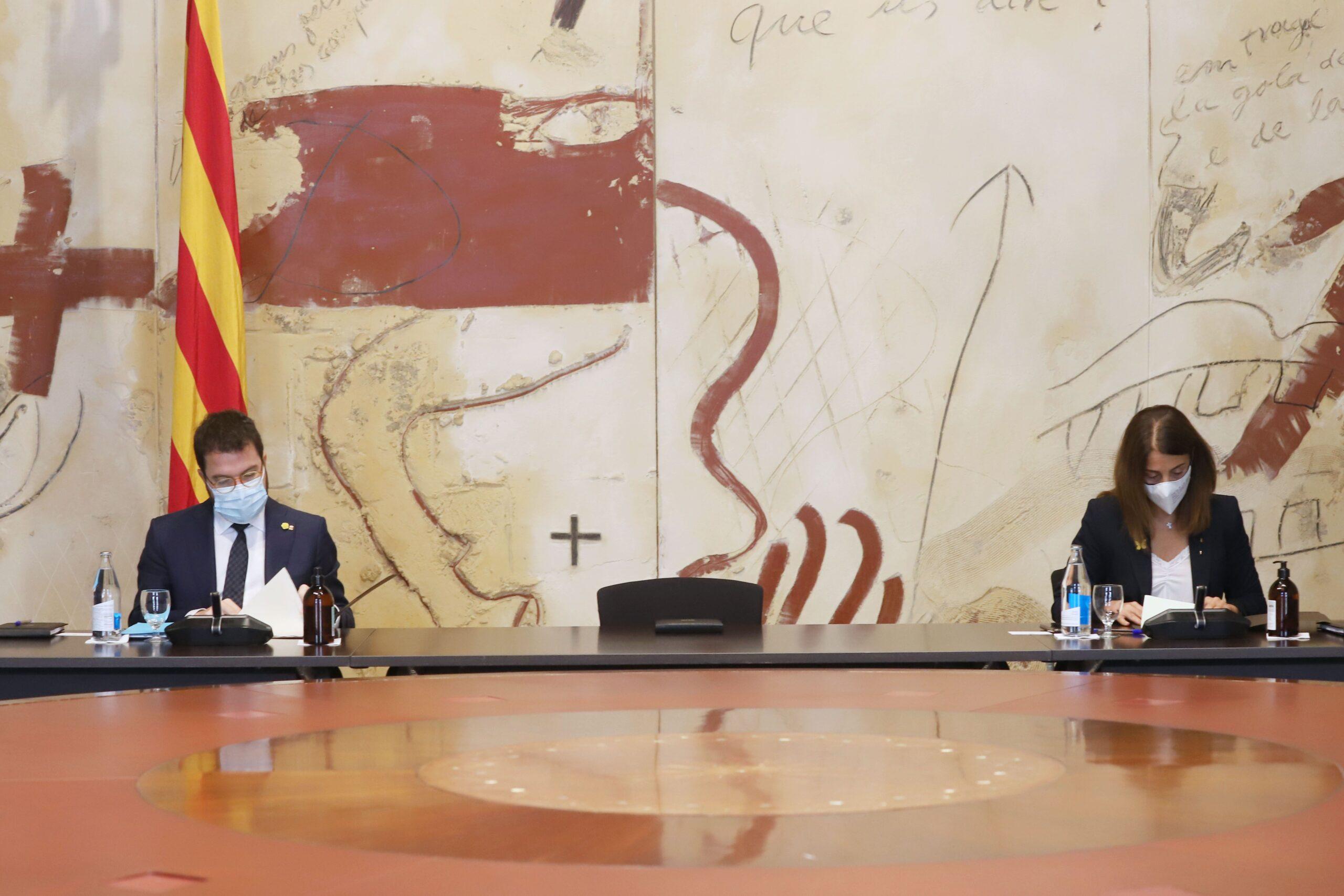 Pere Aragonès i Meritxell Budó / Govern