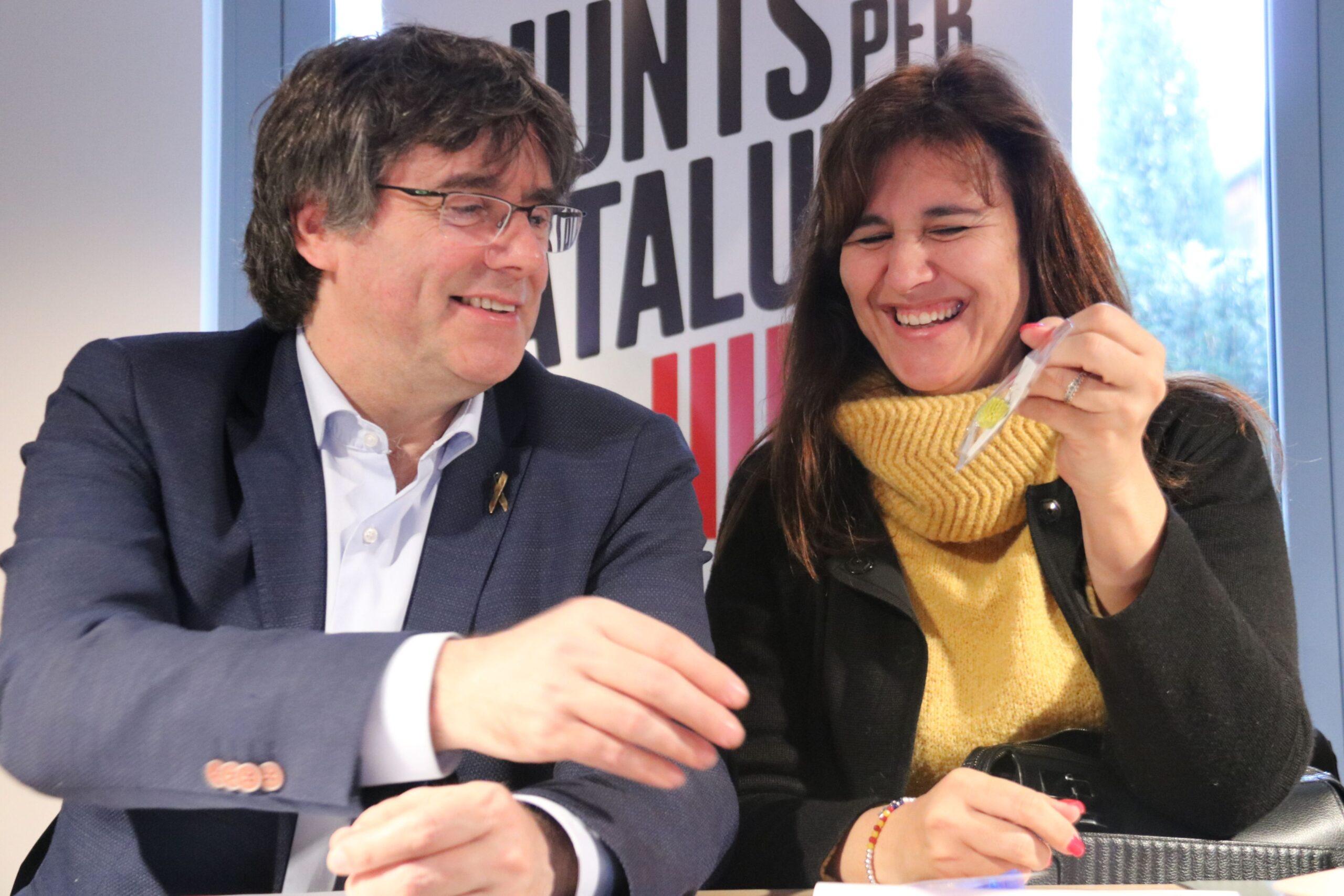 Carles Puigdemont i Laura Borràs, un possible tàndem electoral per al 14F ACN