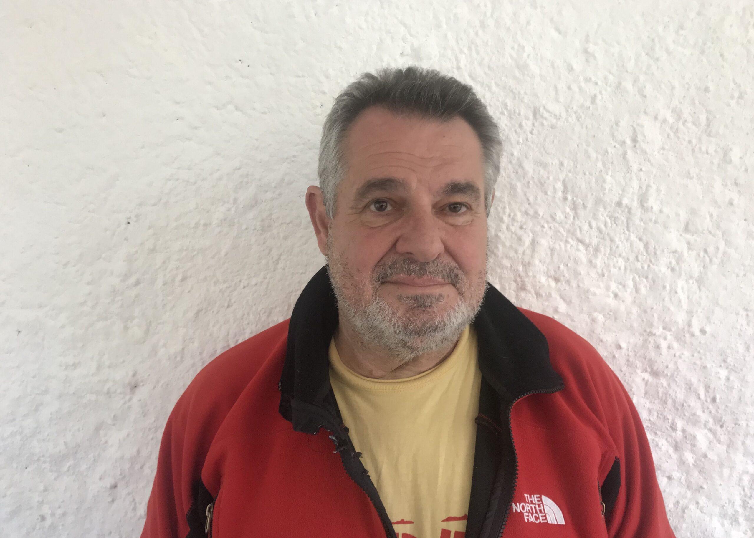 Víctor Terradellas, en un moment de l'entrevista a El Món