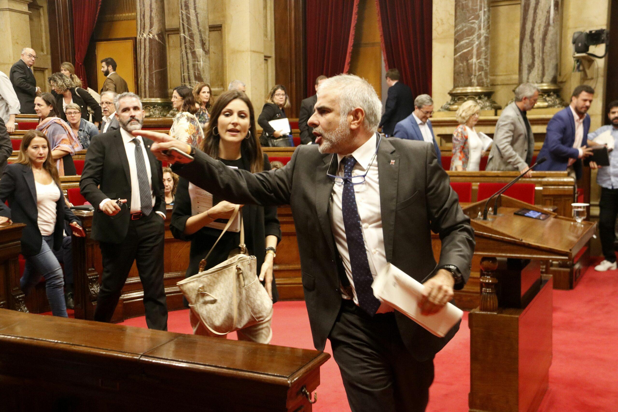 Carlos Carrizosa i Lorena Roldán abandonen l'hemicicle en el passat ple (ACN)
