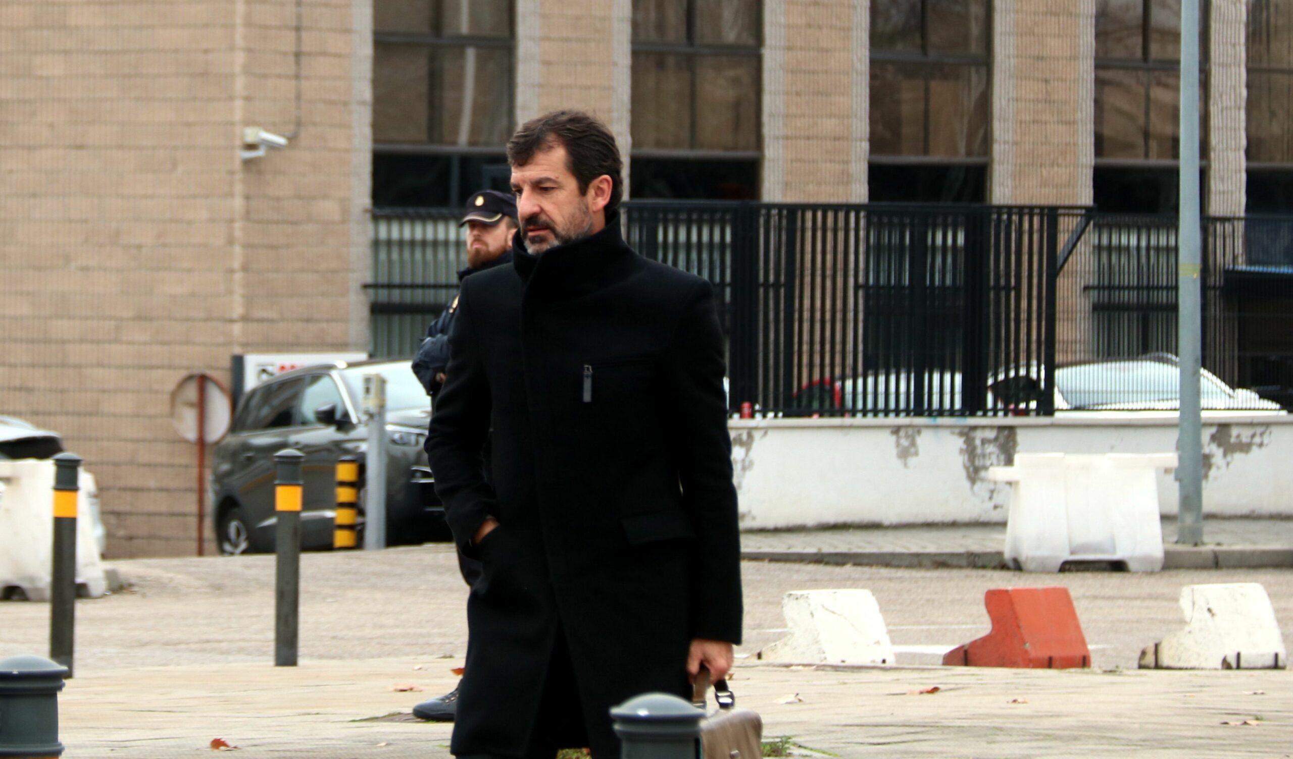 Ferran López, en arribar a la seu de l'Audiència Nacional