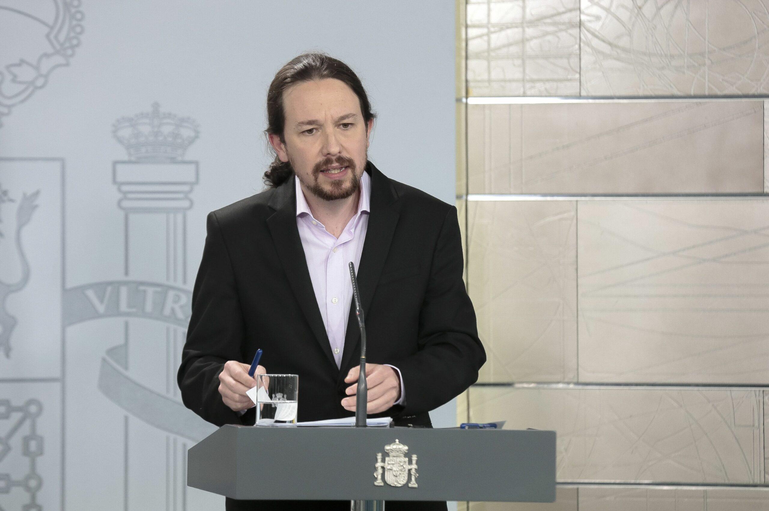 El vicepresident segon del govern espanyol, Pablo Iglesias