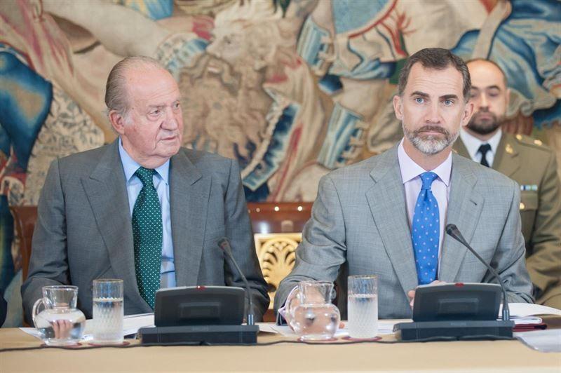 Els reis Joan Carles i Felip /  Europa Press