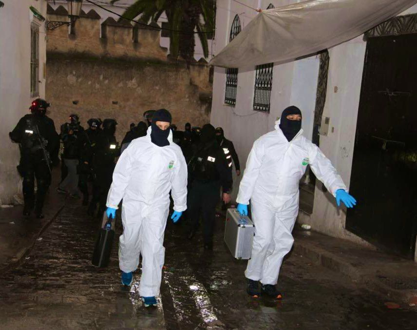 Membres de la policia marroquina en una operació/TWDGS