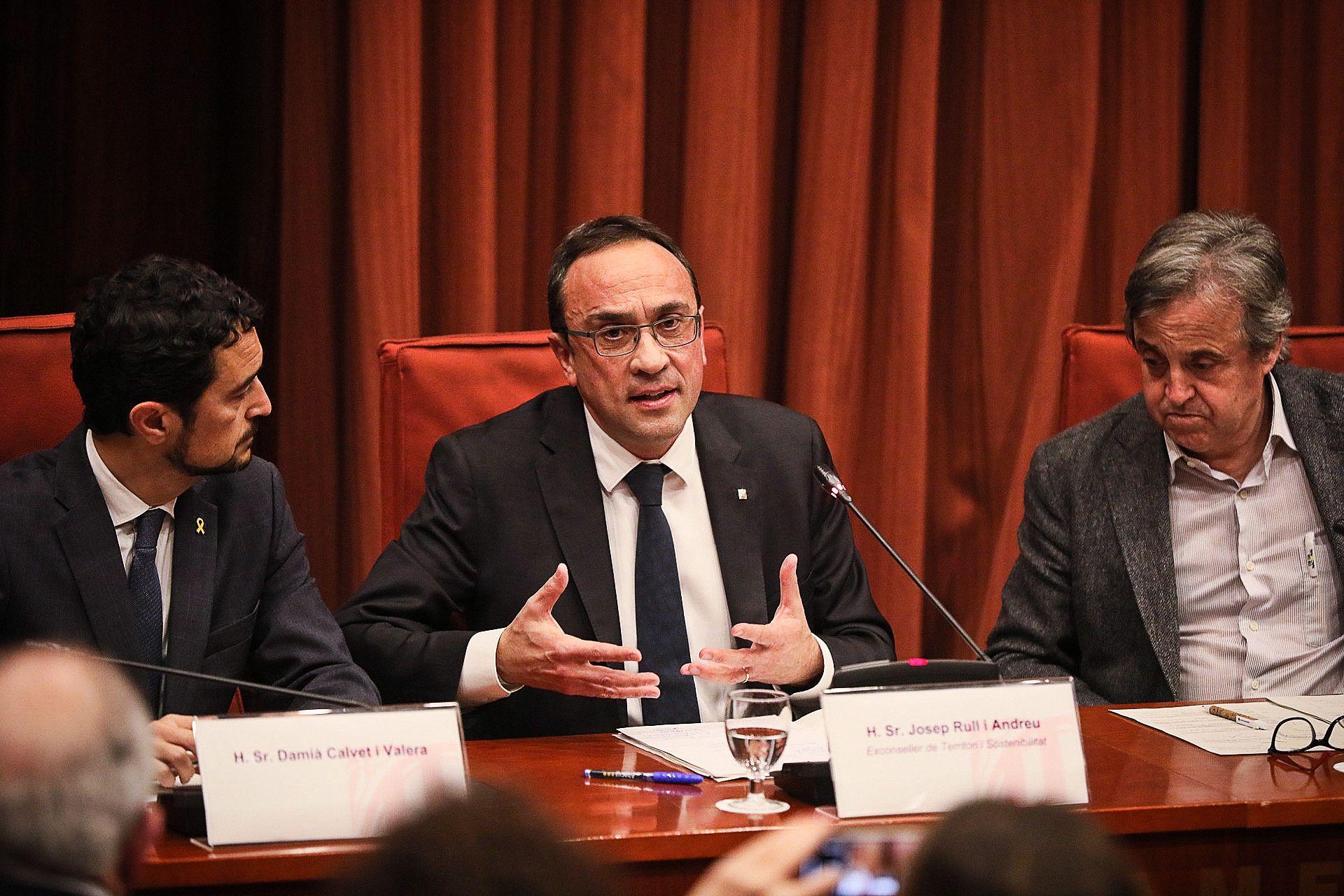 Josep Rull a la comissi? del 155 (JORDI BORR?S)