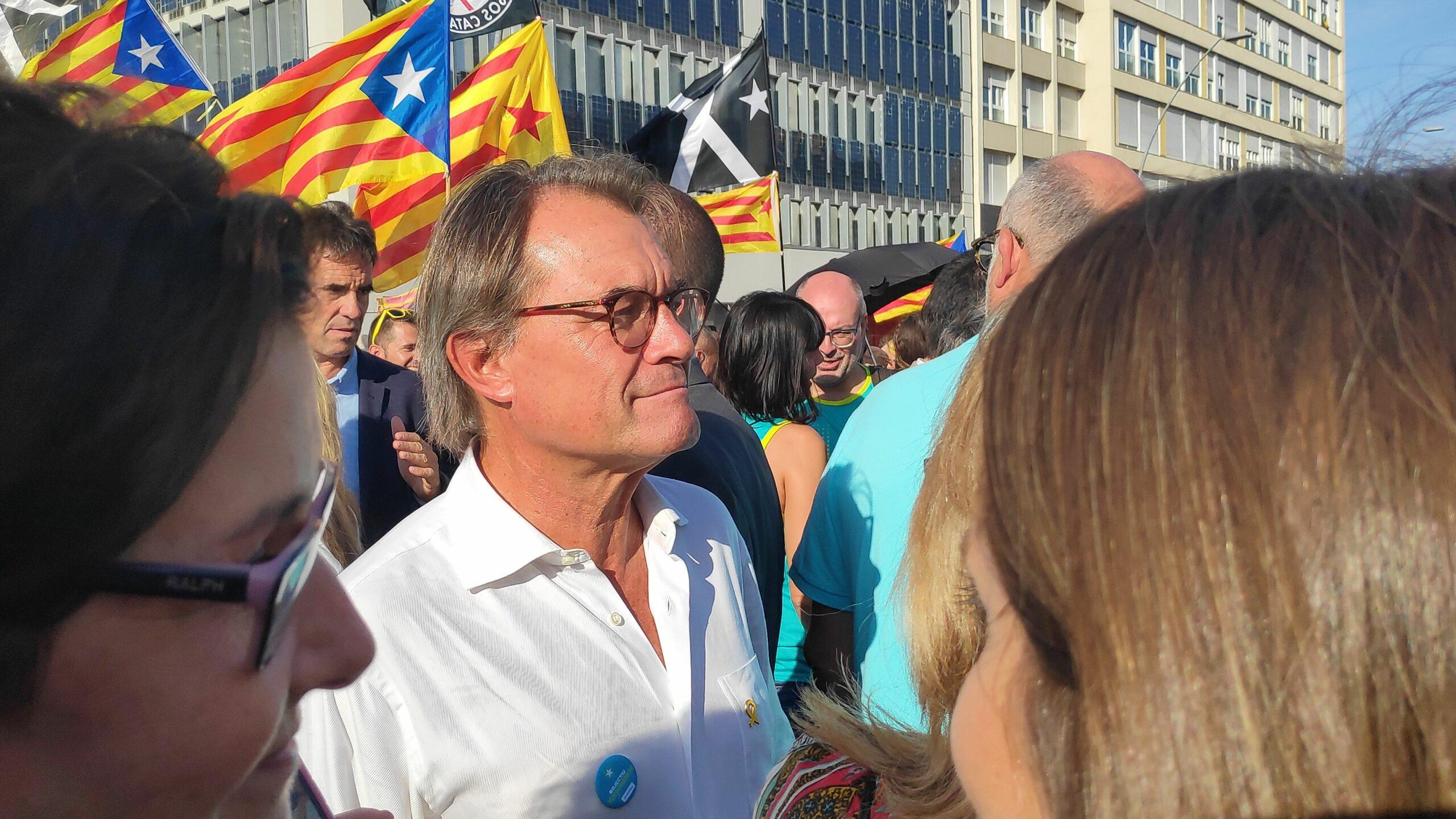L'expresident Artur Mas tamb? ?s a la manifestaci? de la Diada