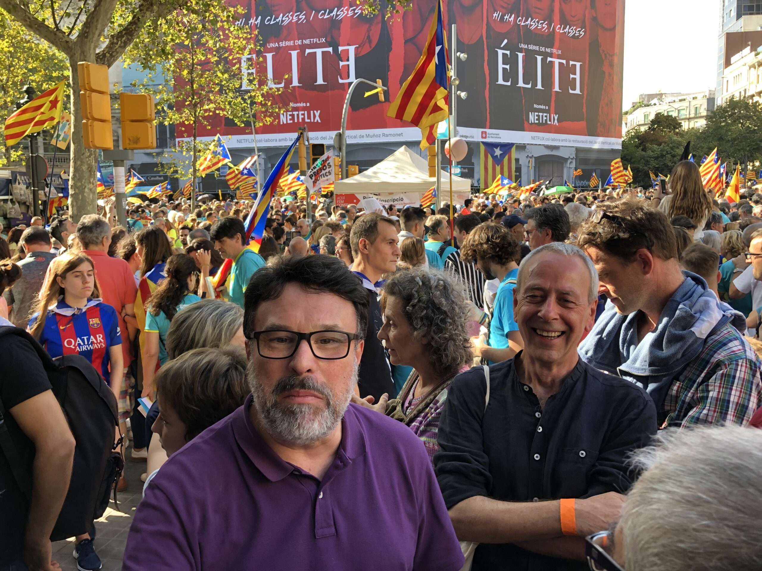 Joan Josep Nuet tamb? ?s a la manifestaci? de la Diada