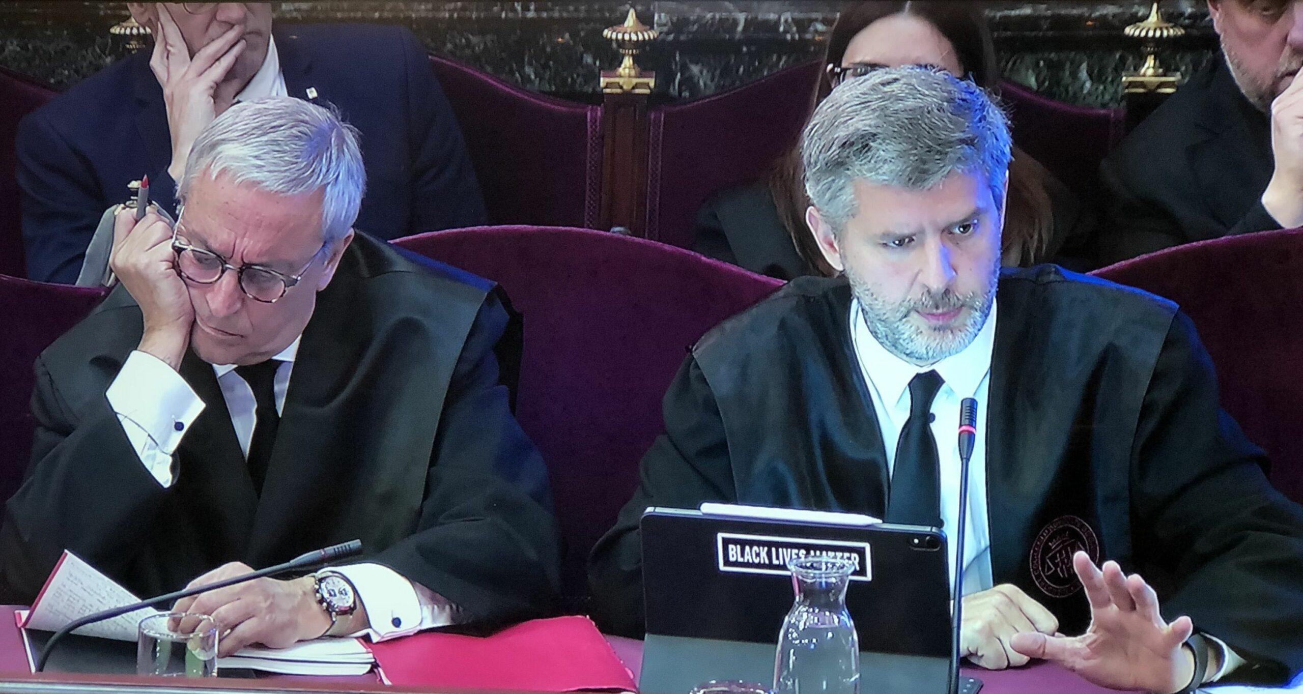 Andreu Van den Eynde i Xavier Melero en el seu al?legat...