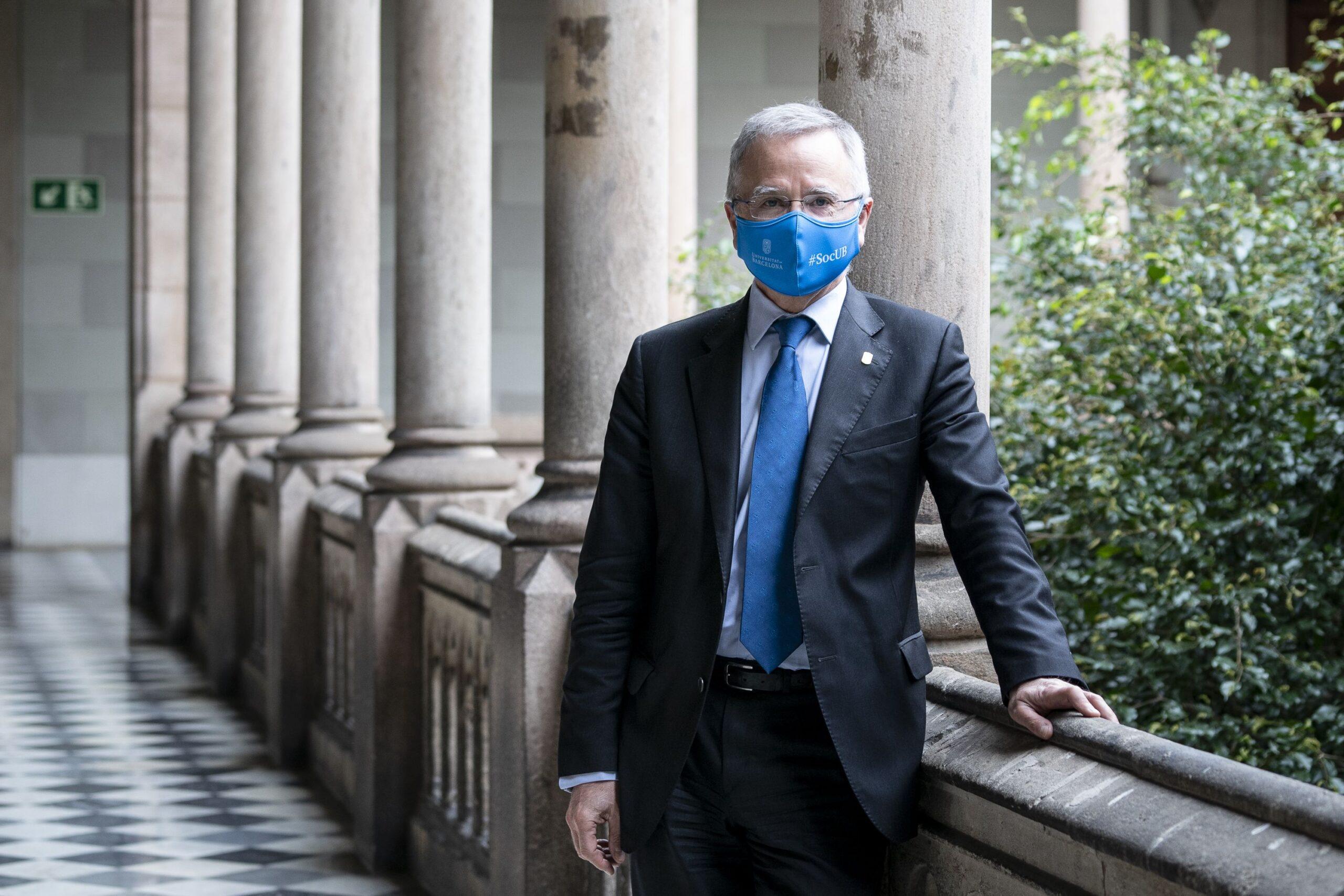 El rector de la Universitat de Barcelona i candidat a la reelecció, Joan Elias | Mireia Comas