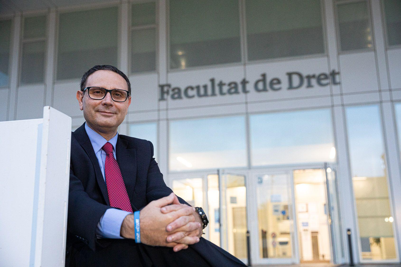 El catedràtic de Dret Processal i candidat a rector de la Universitat de Barcelona, David Vallespín | Jordi Borràs