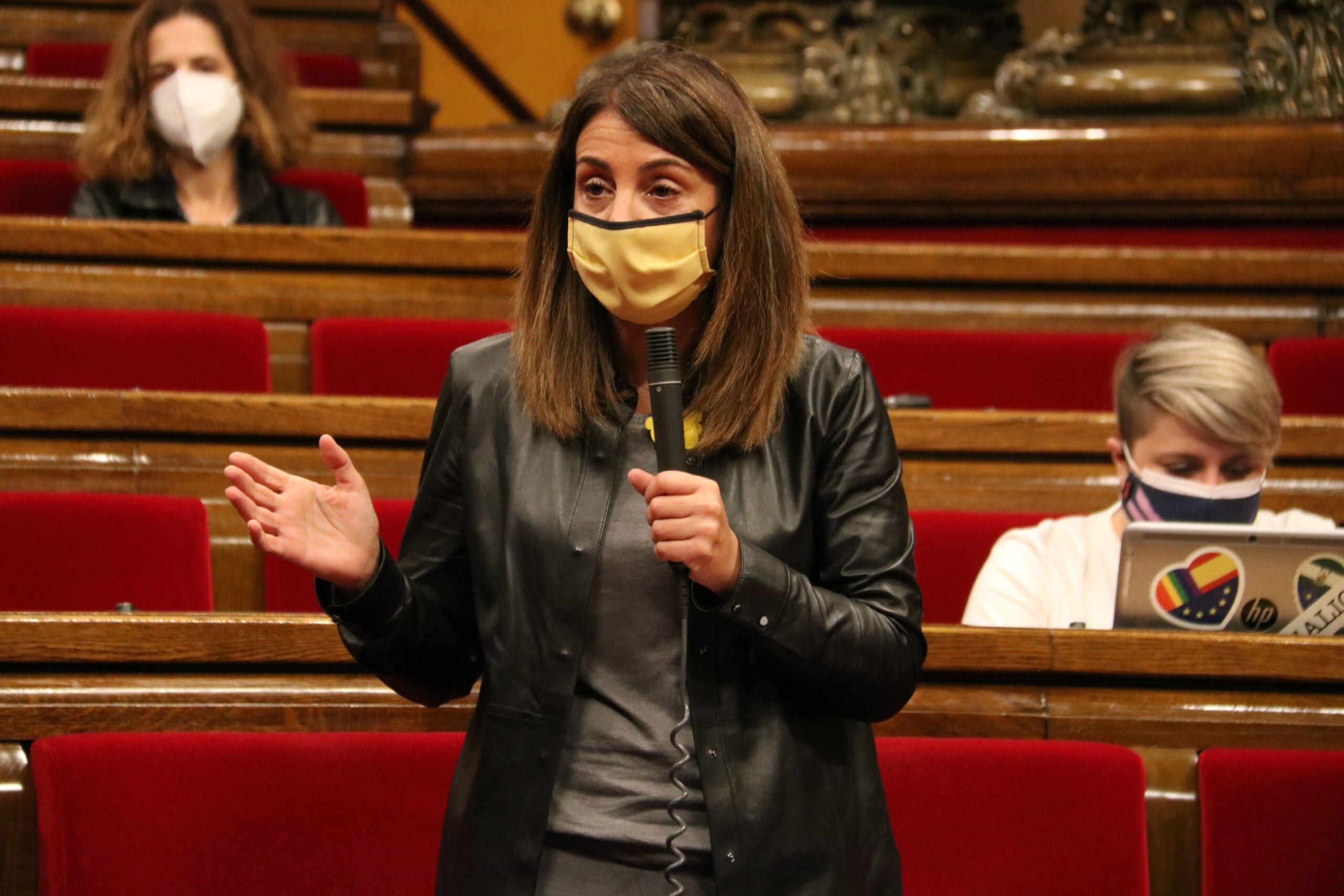 La consellera Meritxell Budó, al ple del Parlament del 4 de novembre de 2020 / ACN
