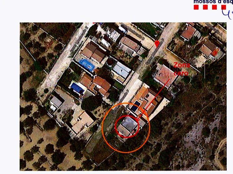 Un dels croquis explicatius dels Mossos sobre la casa d'Alcanar