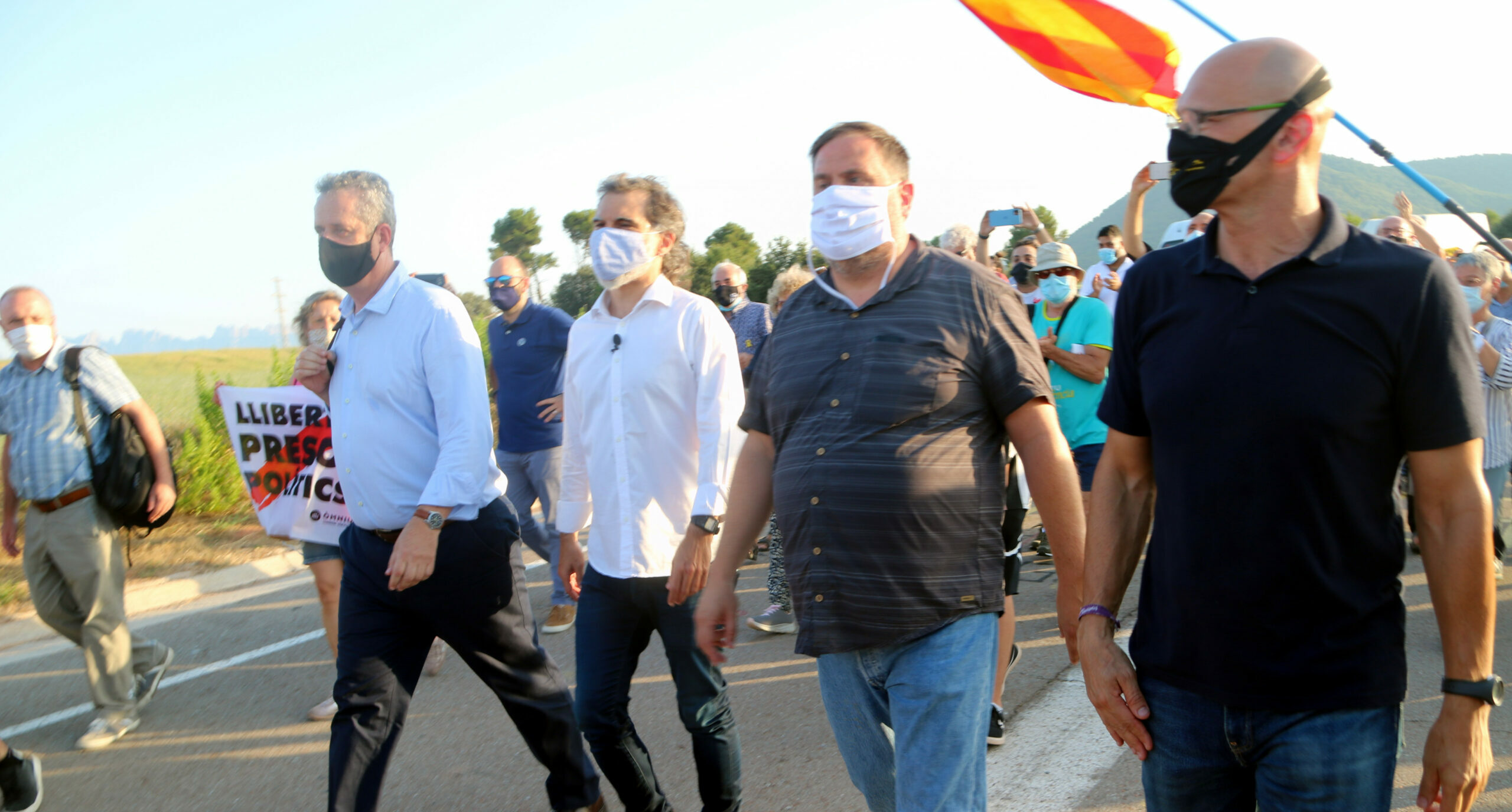 Els presos polítics abans d'entrar a Lledoners | ACN