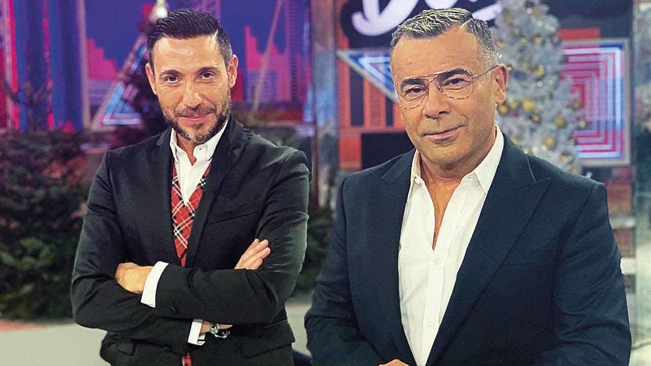 Antonio David Flores i Jorge Javier a plató - Telecinco