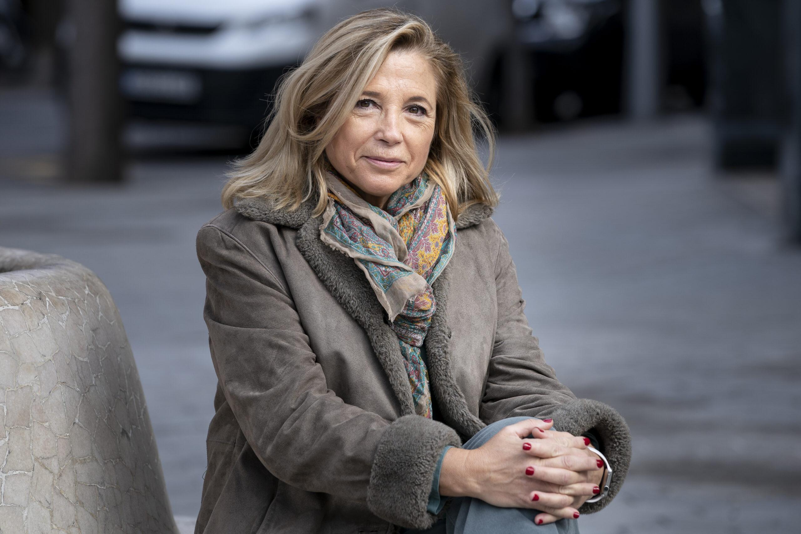 Joana Ortega, moments abans d'una entrevista amb El Món / Mireia Comas