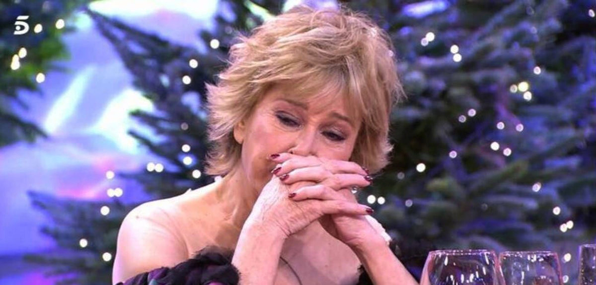 Mila Ximénez, en el programa especial de 'Sálvame' de Nadal / Telecinco