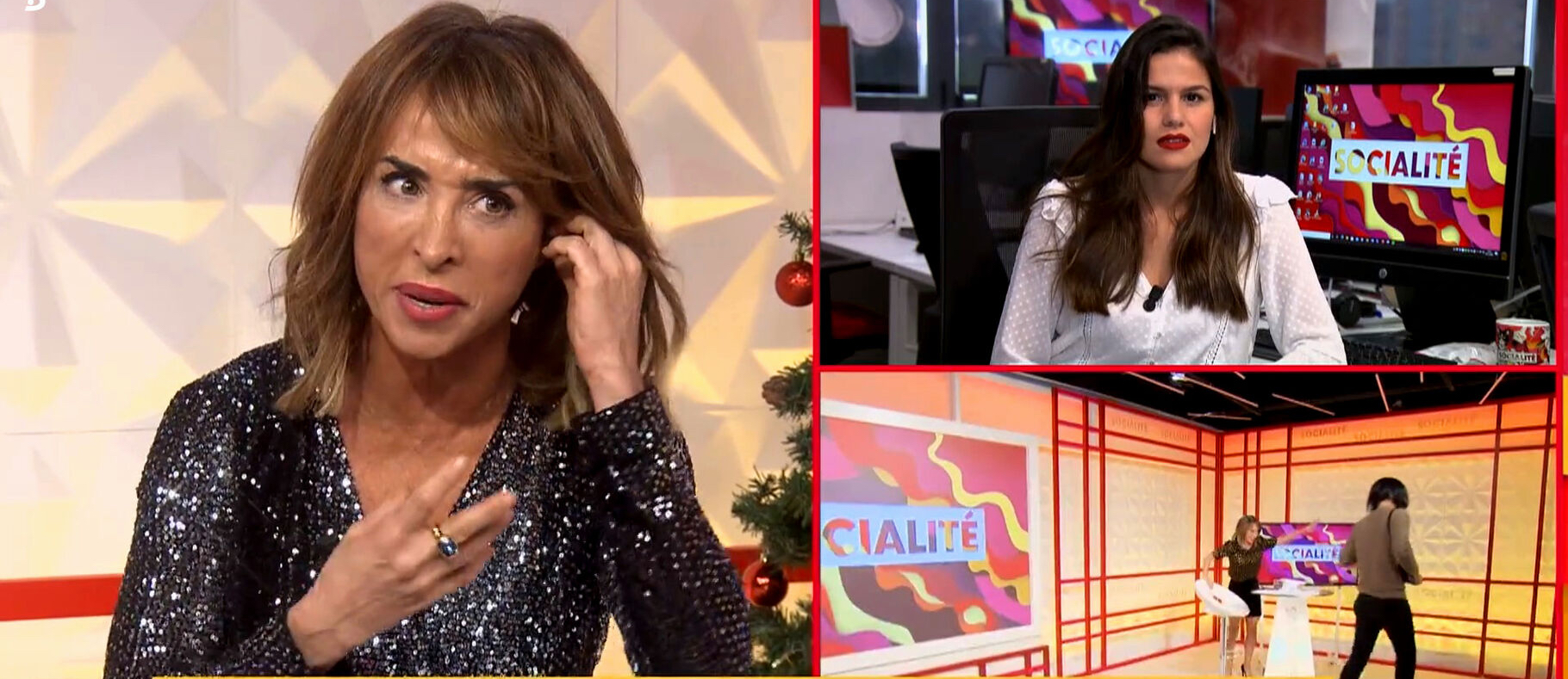 María Patiño a 'Socialité' / Telecinco