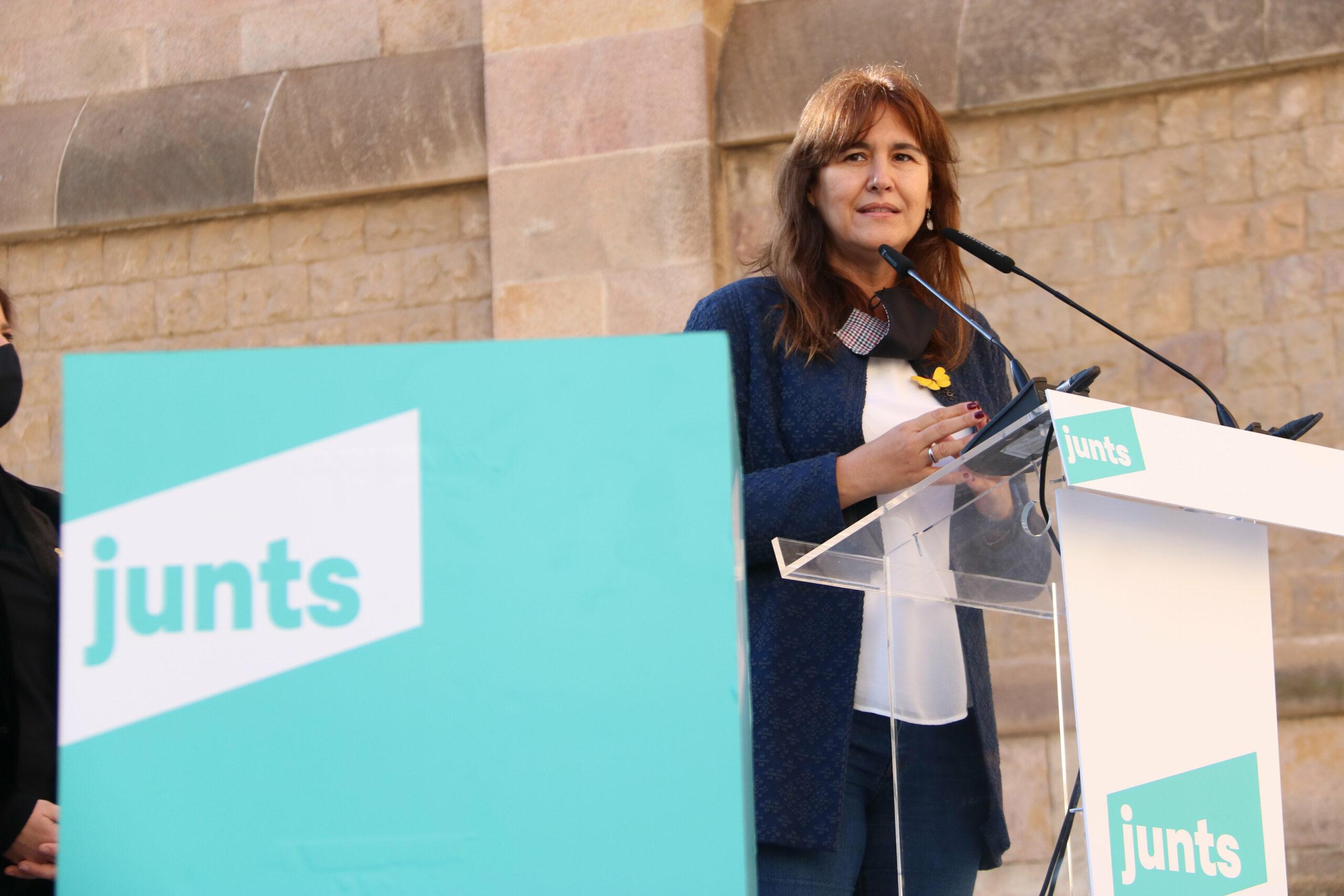 La candidata de Junts per Catalunya a la Generalitat, Laura Borràs | ACN