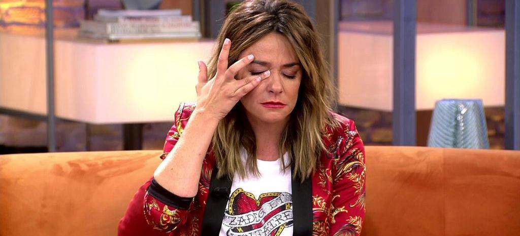 Toñi Moreno s'emociona en directe a 'Viva la vida' / Telecinco