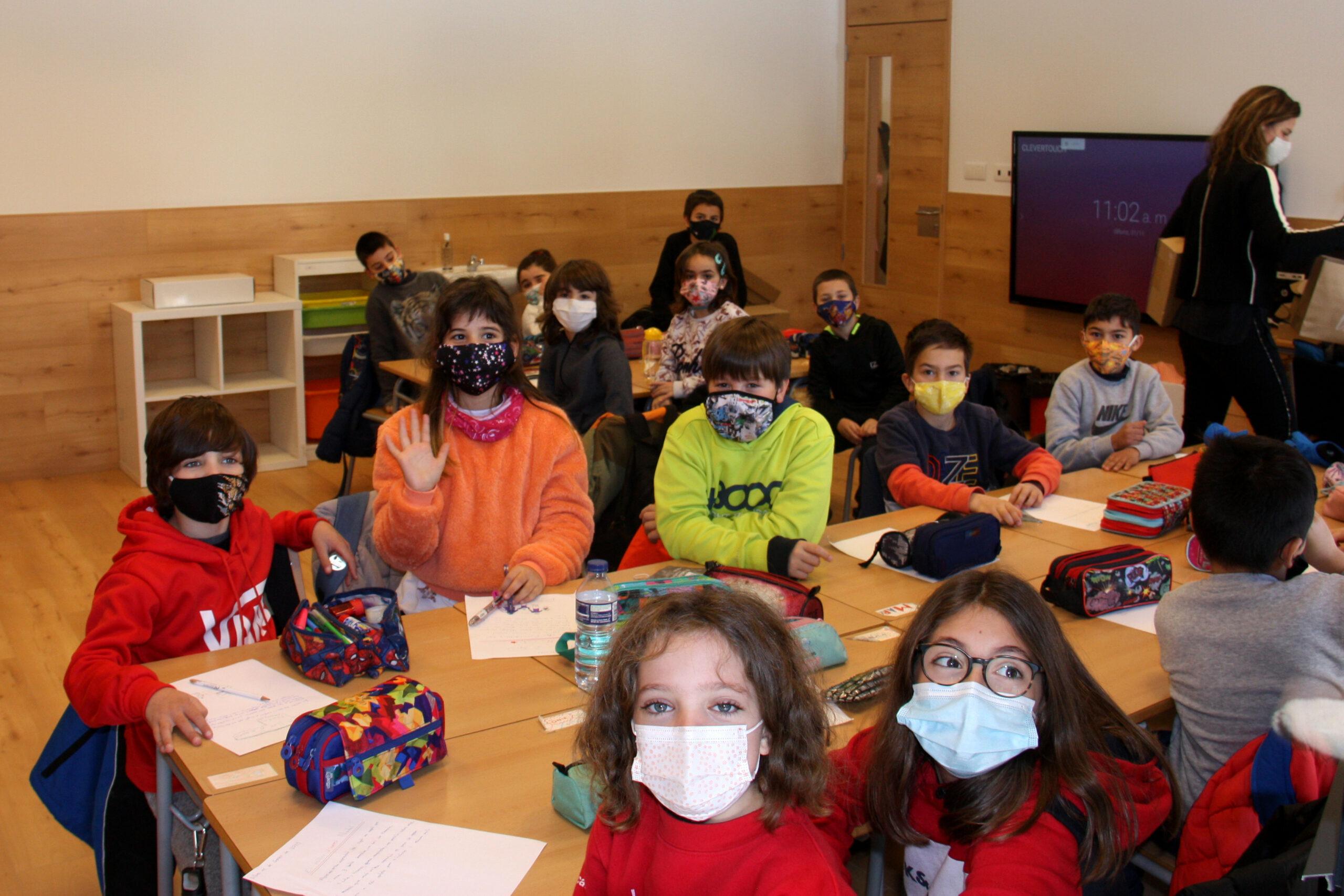 Alumnes de l'Escola Jaume I de Llívia (Cerdanya) | ACN