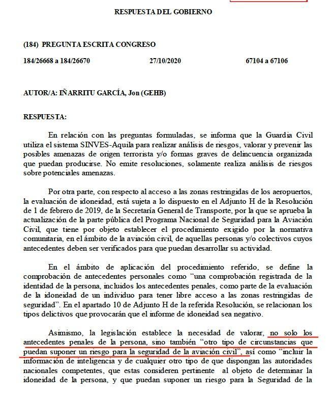 La segona explicació parlamentària sobre l'arxiu Aquila Sinves