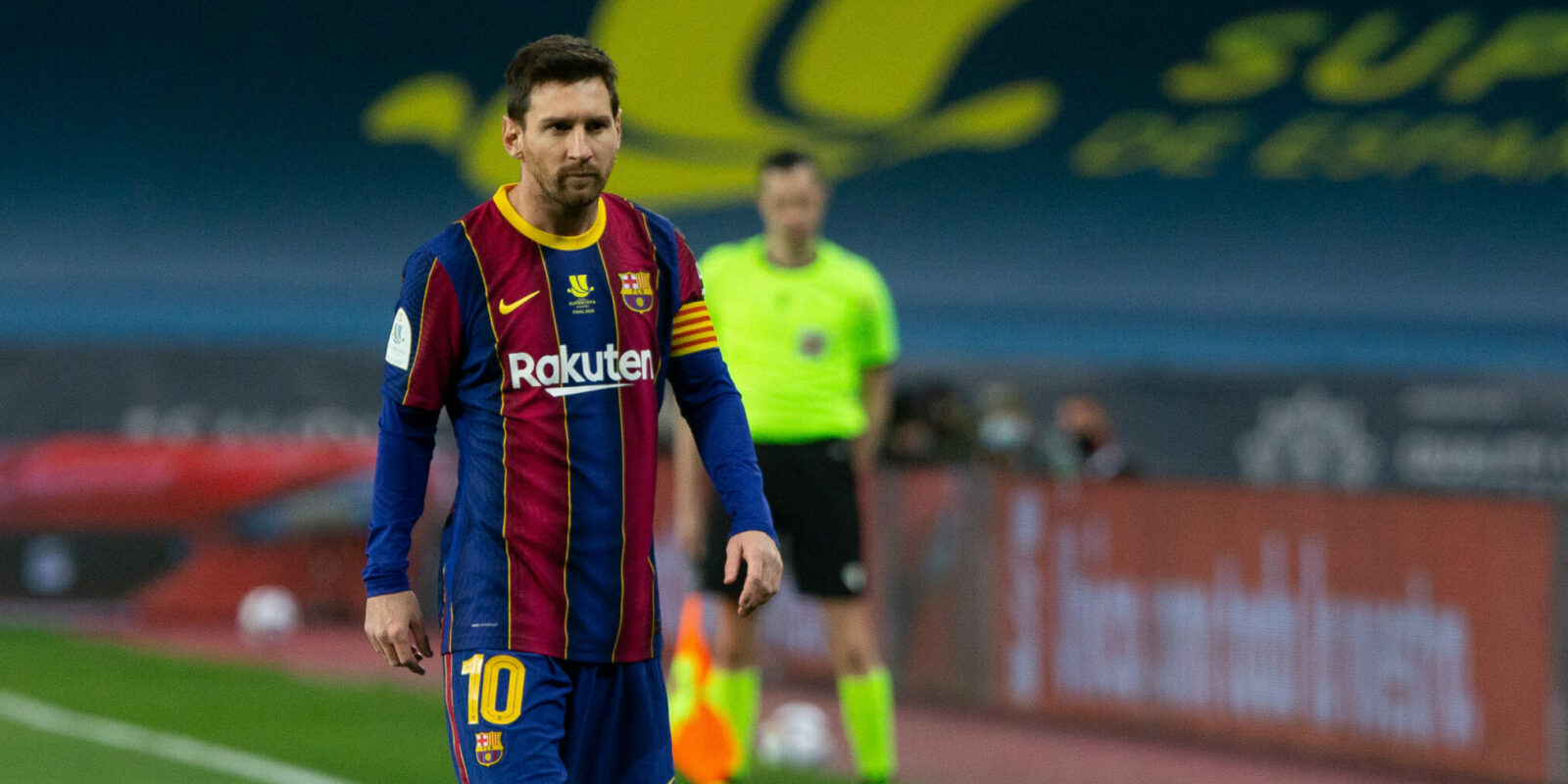 Lionel Messi of Barcelona during the Spanish SuperCup Final between Futbol Club Barcelona and Athletic Club Bilbao at La Cartuja Stadium on January 17, 2021 in Sevilla, Spain. AFP7  / Europa Press 17/1/2021 ONLY FOR USE IN SPAIN