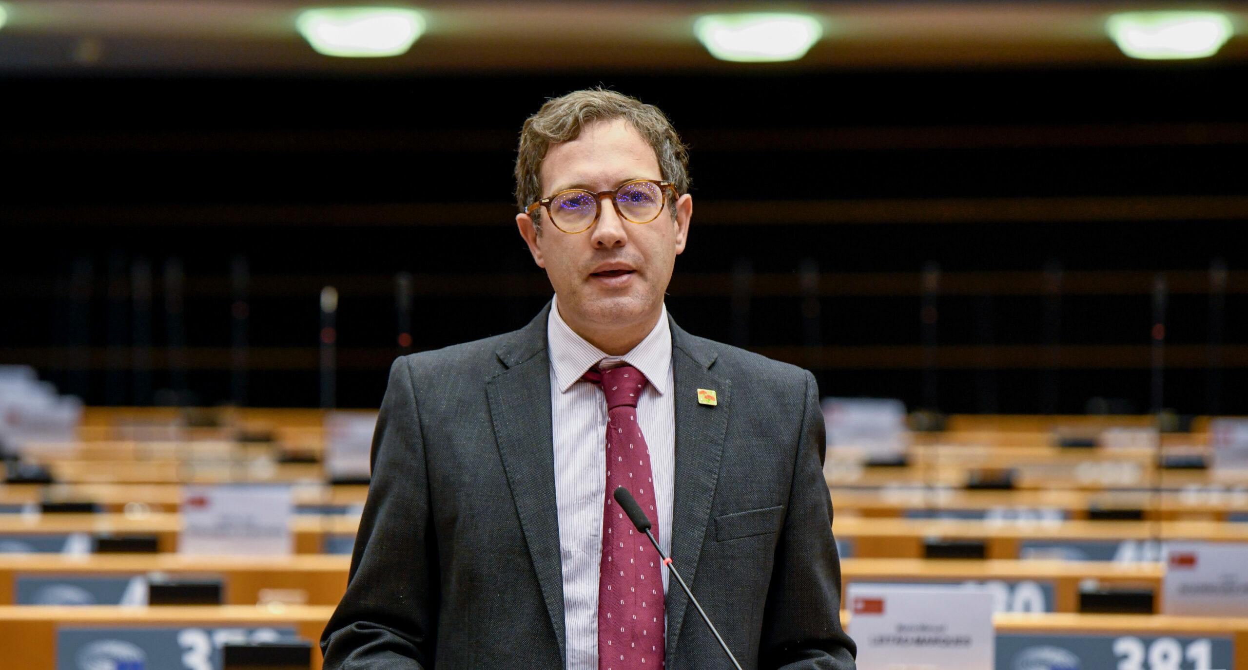 L'eurodiputat del PSOE, Domènec Ruiz Devesa, en un debat a l'Eurocambra l'octubre del 2020 / ACN