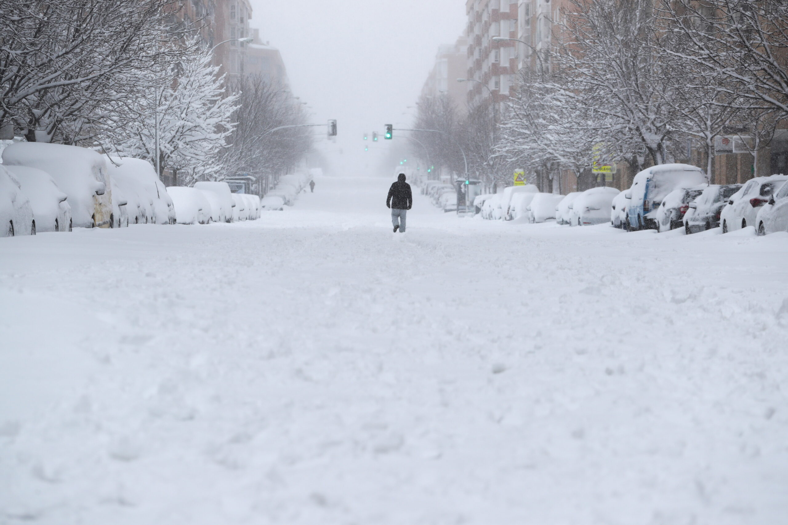 Una avinguda de Madrid completament nevada | ACN