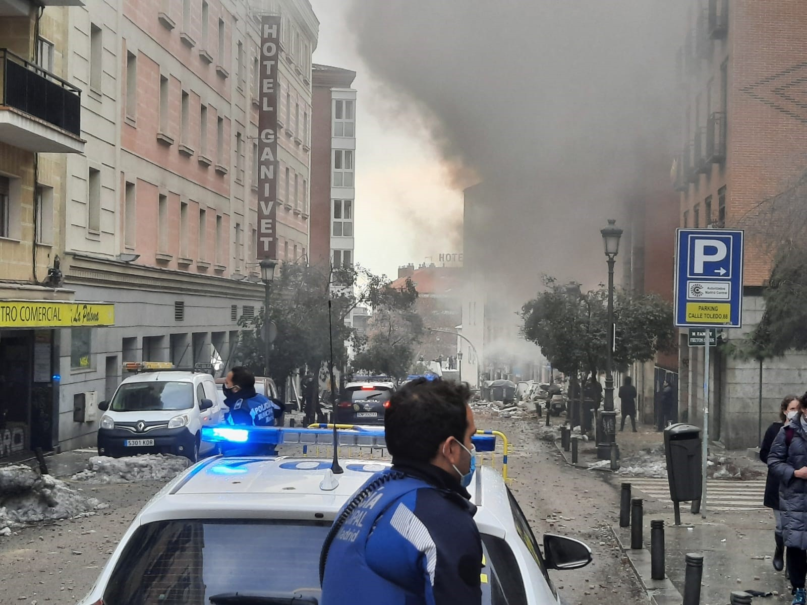 Explosió d'un edfici a Madrid / EP
