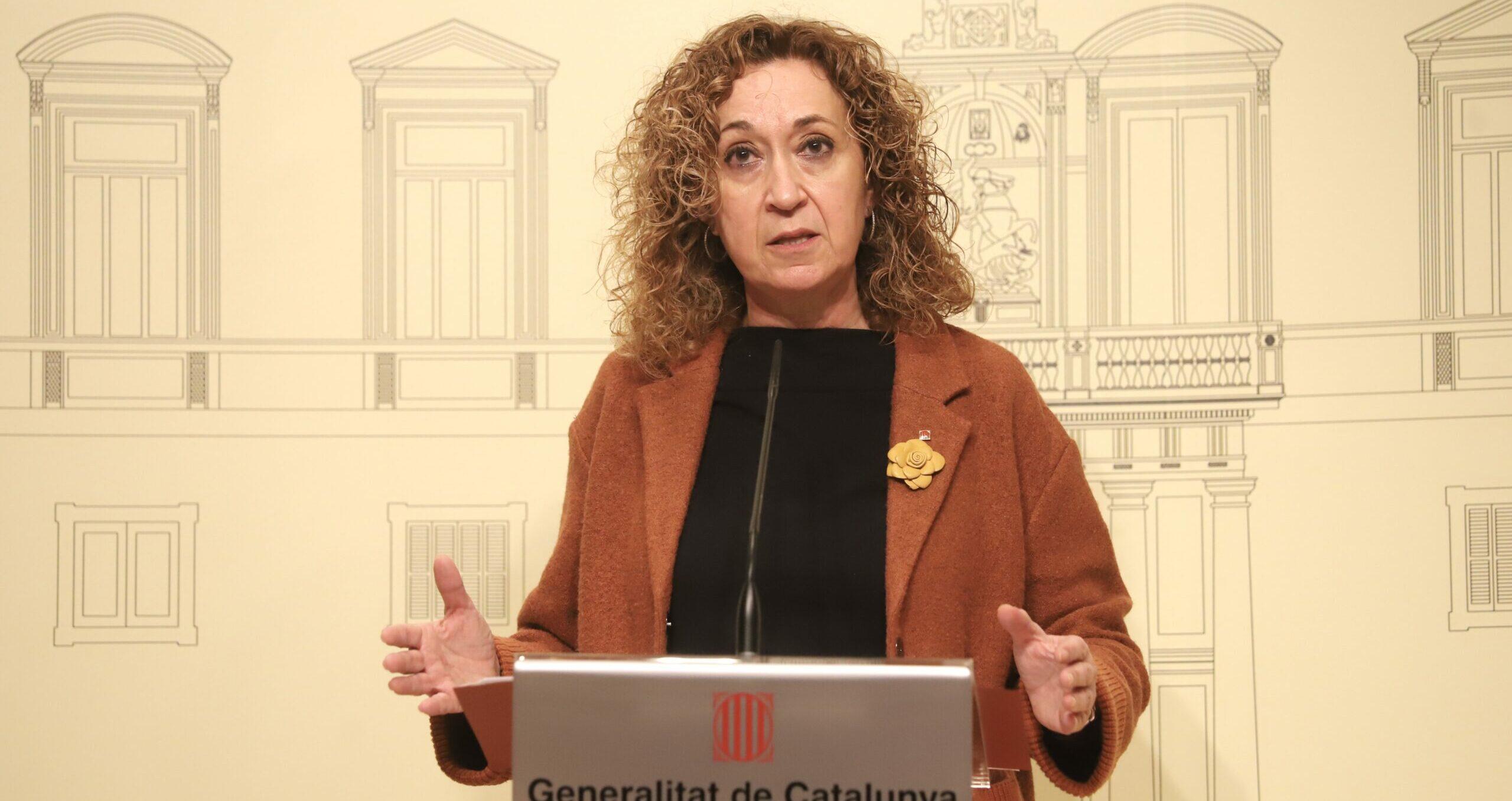 La consellera de Justícia, Ester Capella, en roda de premsa a Barcelona el 21 de gener del 2021 / ACN
