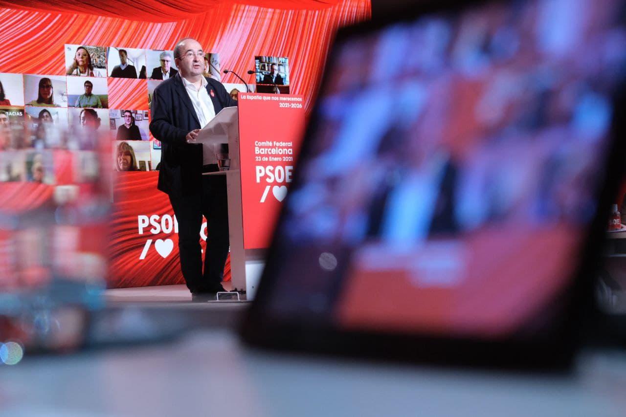 Miquel Iceta al comitè federal del PSOE a Barcelona / PSC