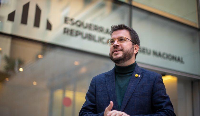 Pere Aragonès, al pati d'ERC/Marc Puig