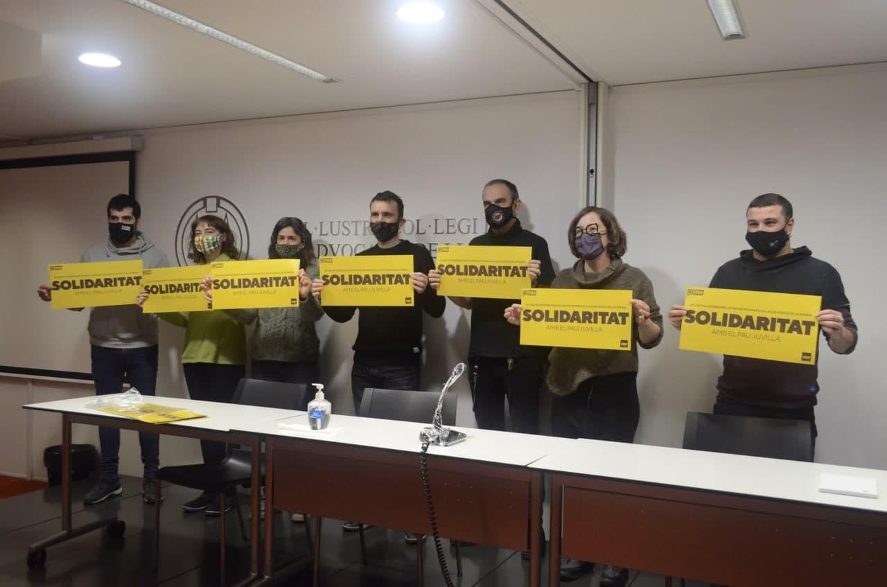 Acte de denúncia de la pena solicitada per el fiscal a Pau Juvillà/UP