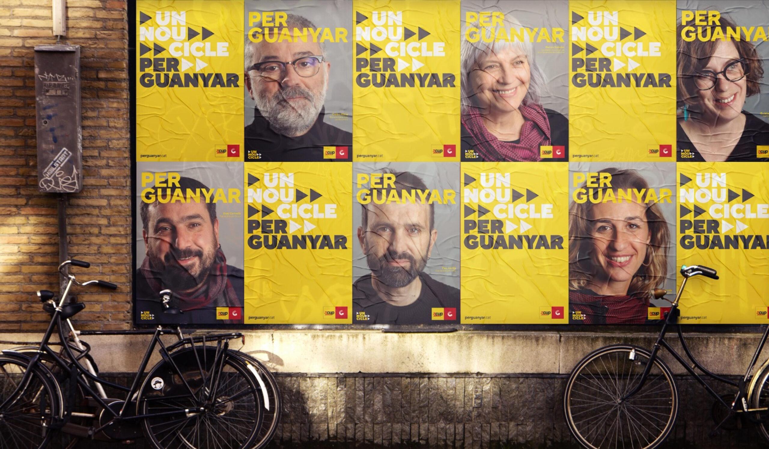 Els cartells dels candidats de la CUP i Guanyem a les eleccions del 14-F   ACN