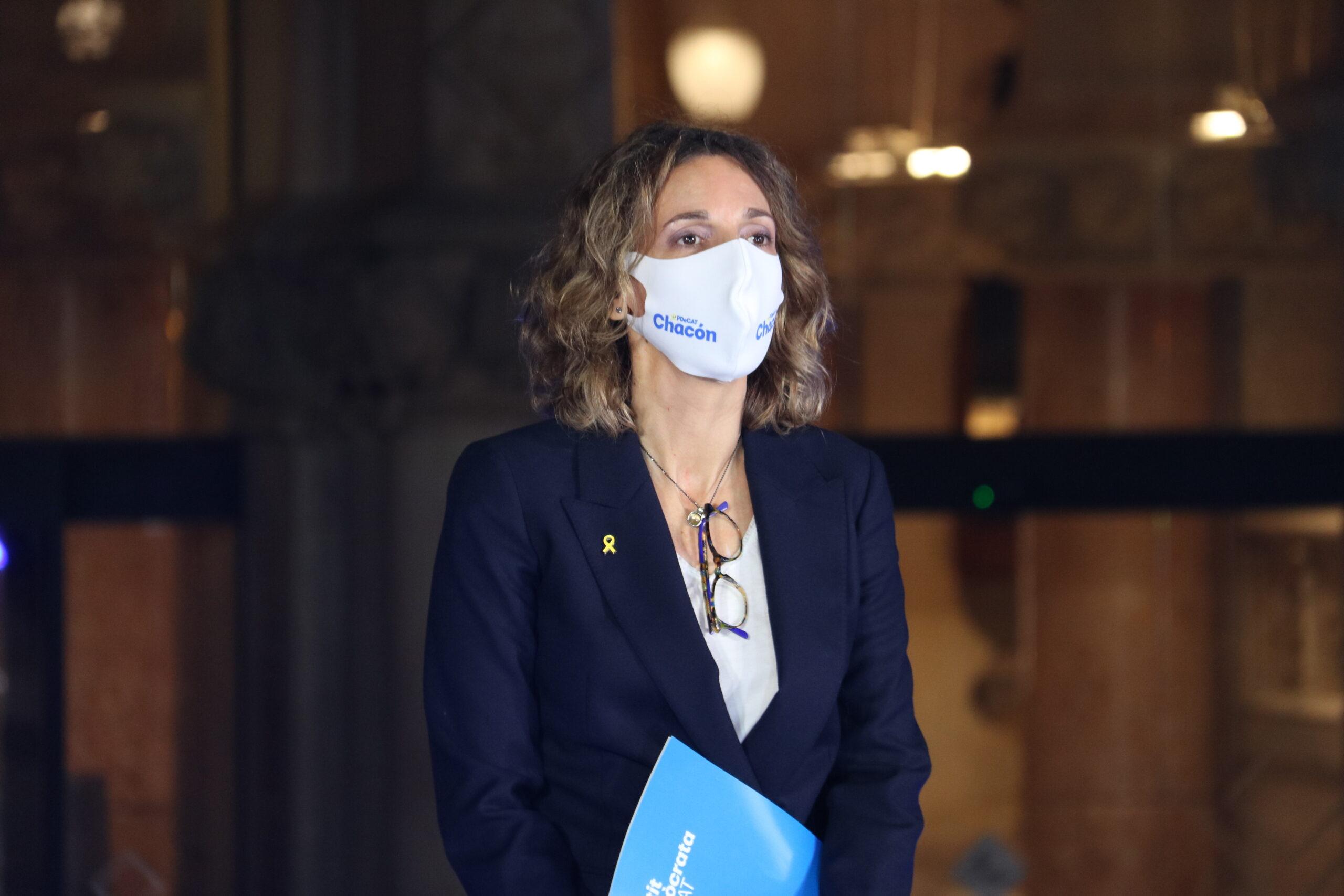 La candidata del PDeCAT a les eleccions, Àngels Chacón, en l'acte d'inici de campanya del 14F / ACN