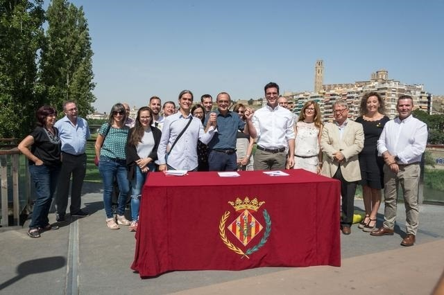 Firma del tripartit en Lleida / AJUNTAMENT DE LLEIDA