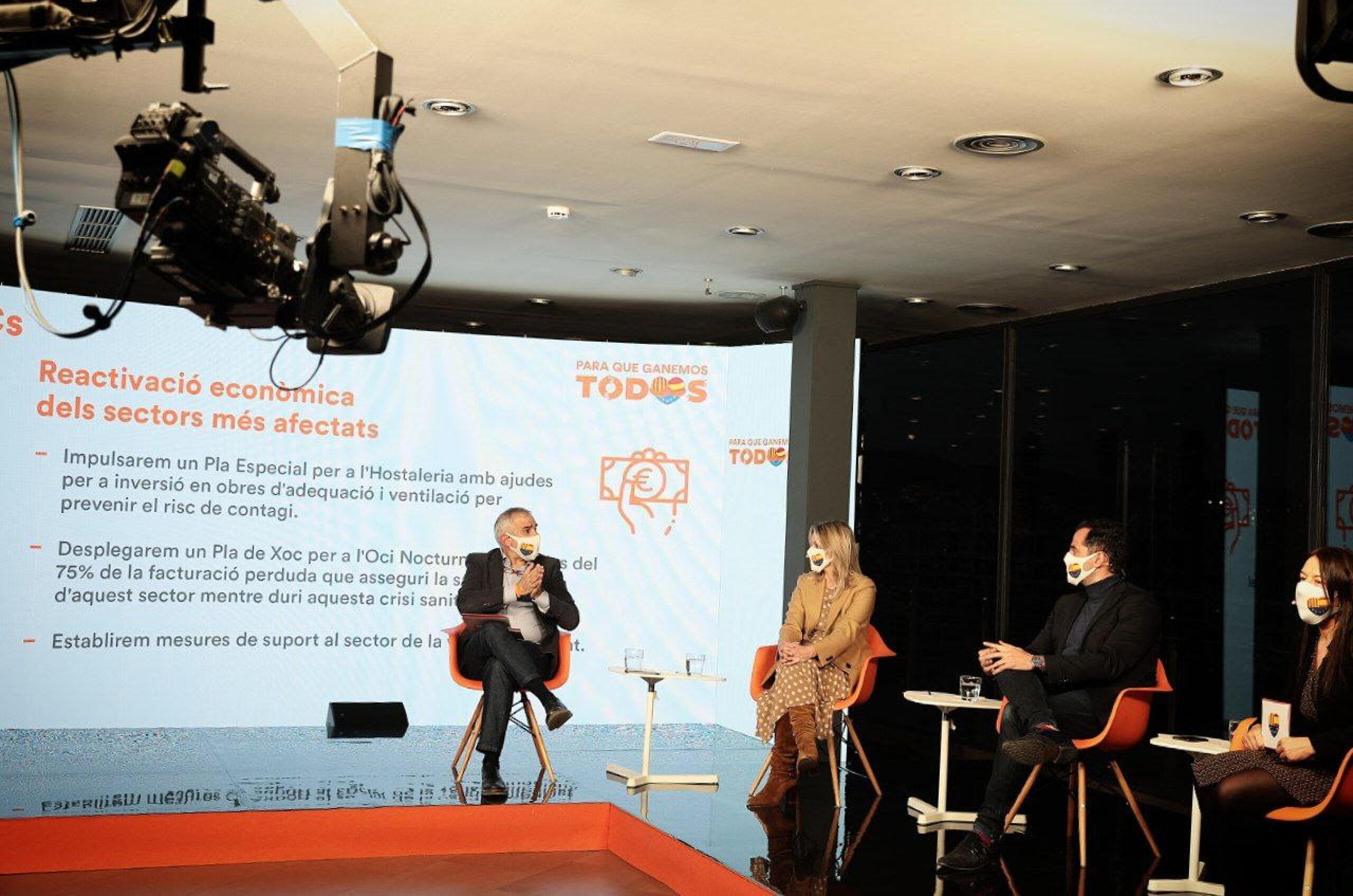 Carlos Carrizosa amb el vicepresident de la Comunitat de Madrid, Ignacio Aguado, la consellera d'Empresa de Múrcia, Ana Vidal, i la secretària general del partit, Marina Bravo.