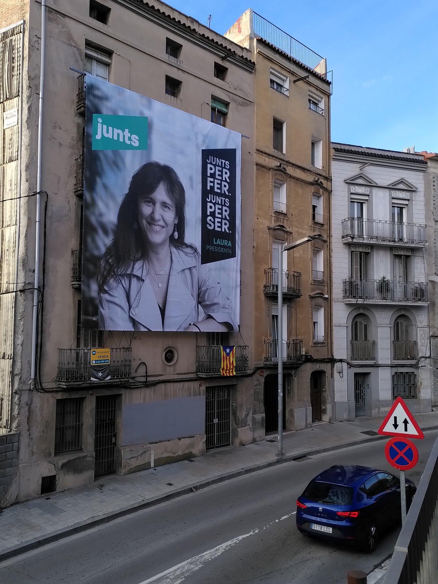 El cartell de Laura Borràs/Bernat Ferrer