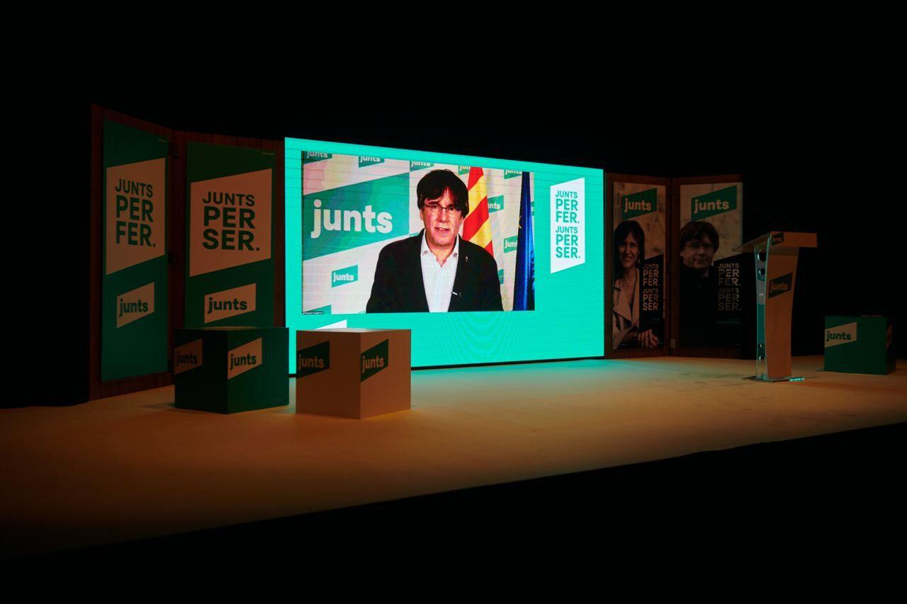 Carles Puigdemont al míting de Badalona /JxCAT