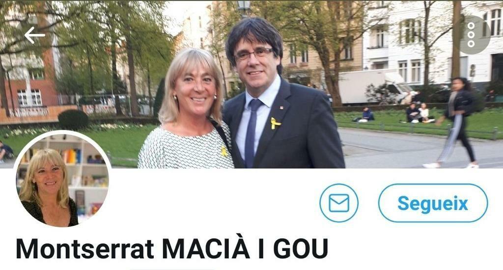 La presentació de Montse Macià del PDeCAT amb Carles Puigdemont