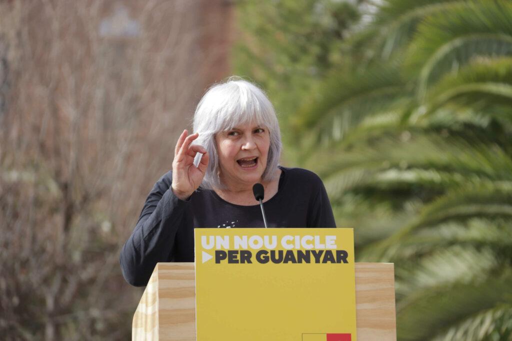 La candidata de la CUP Dolors Sabater a l'acte central de campanya a l'Hospital Sant Pau | ACN