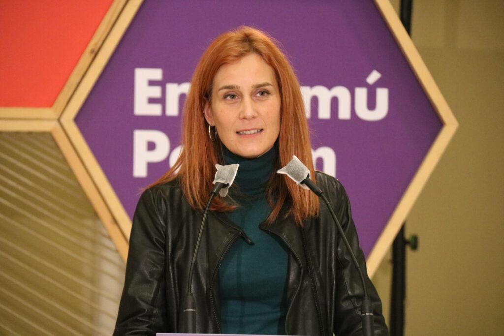 La candidata d'En Comú Podem, Jéssica Albiach, en un acte a Lleida | ACN