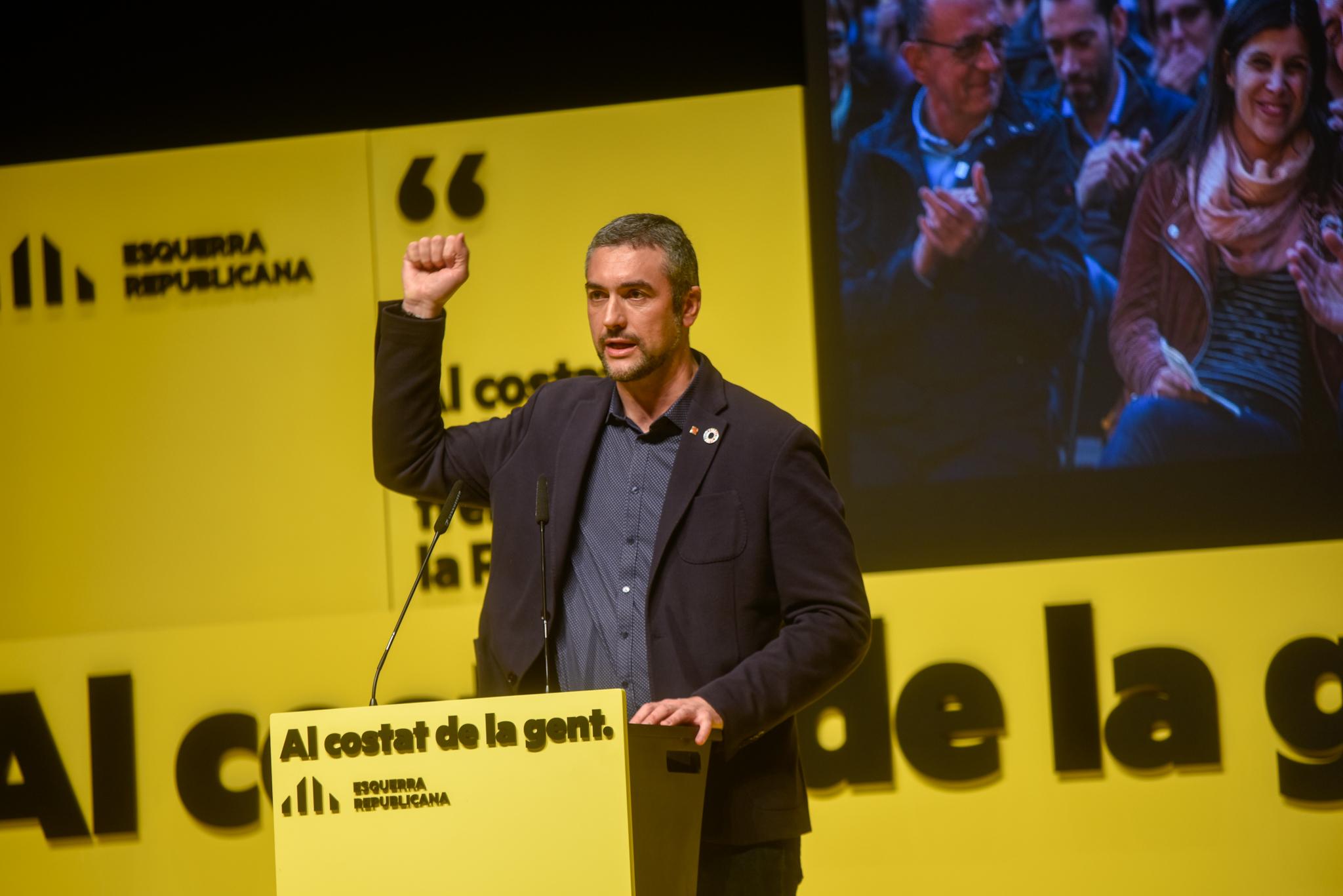 El conseller Bernat Solé en un acte d'ERC Marc Puig