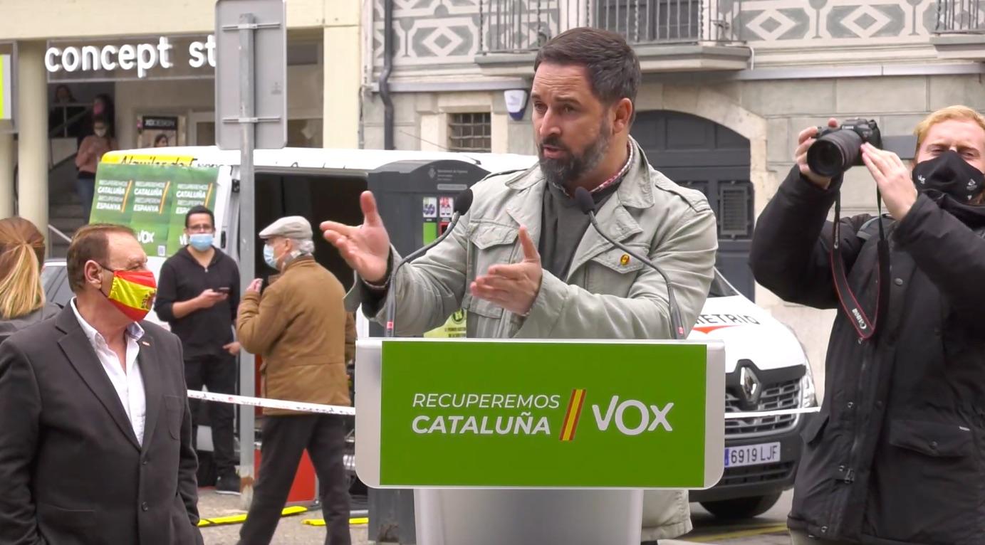 Abascal, en el seu míting de Figueres