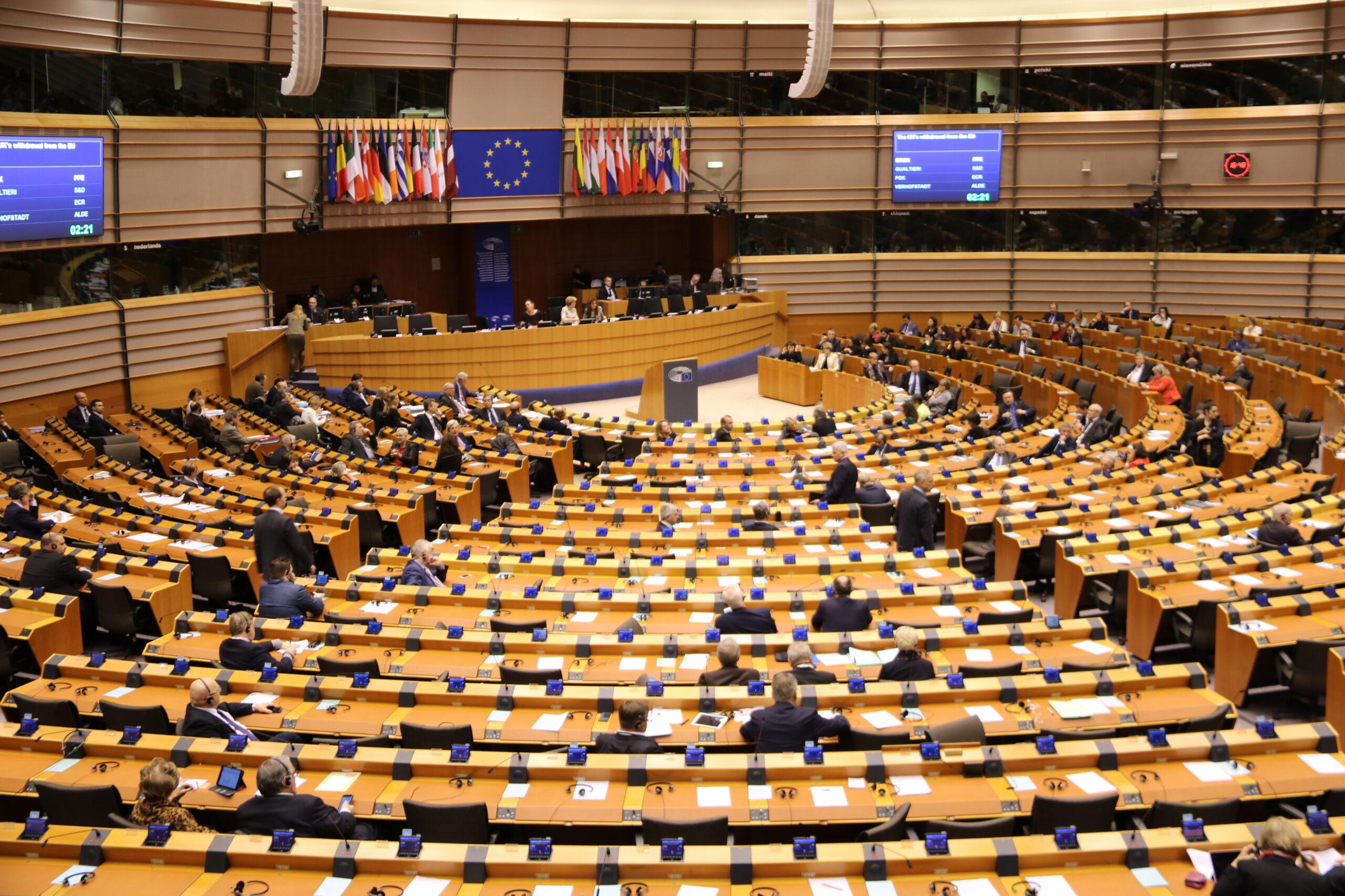 Ple de l'Eurocambra durant el debat sobre el Brexit, en una imatge d'arxiu   ACN