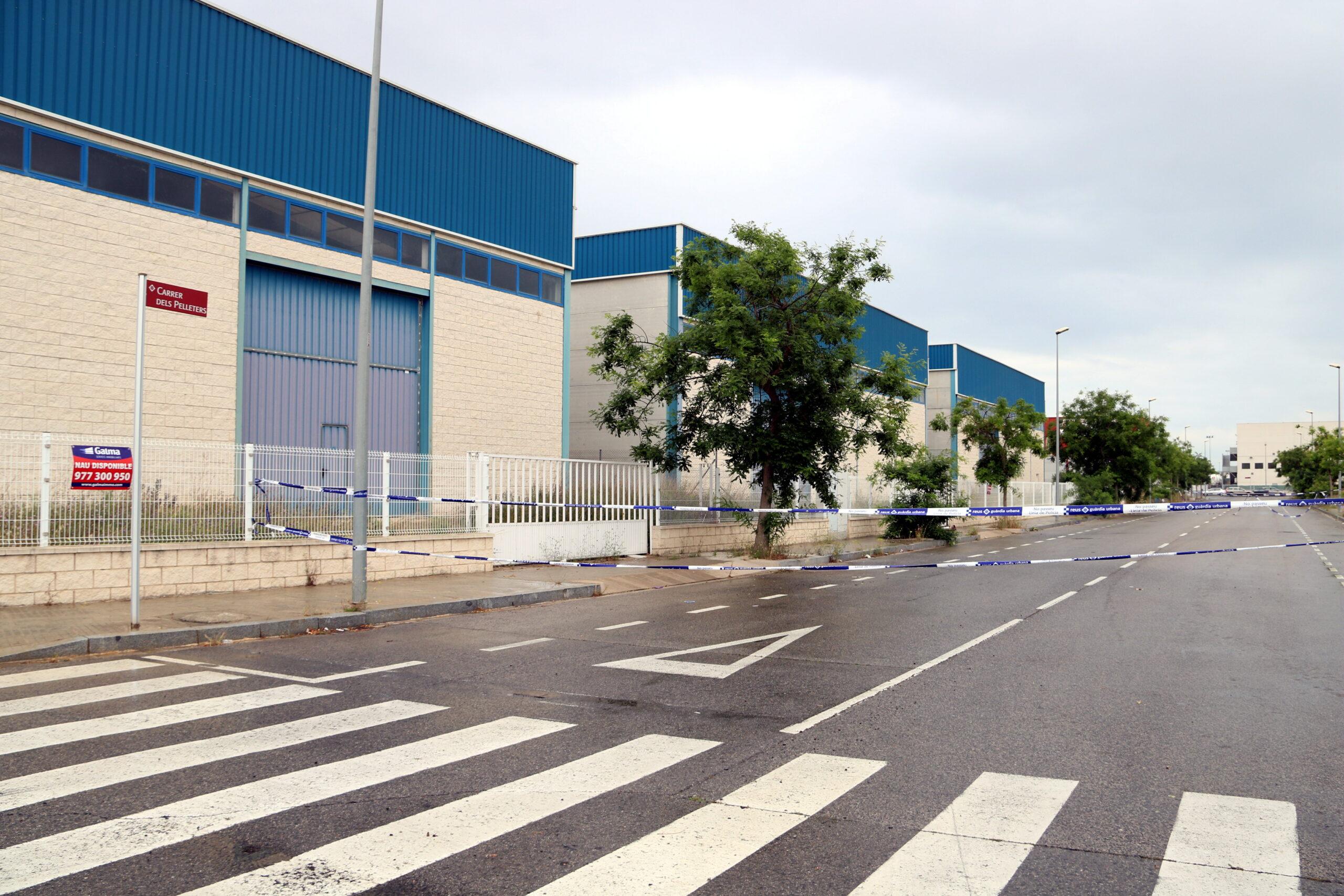 El carrer dels Pelleters al polígon Alba de Reus/Vila-seca on es va trobar el cadàver de la dona morta   ACN