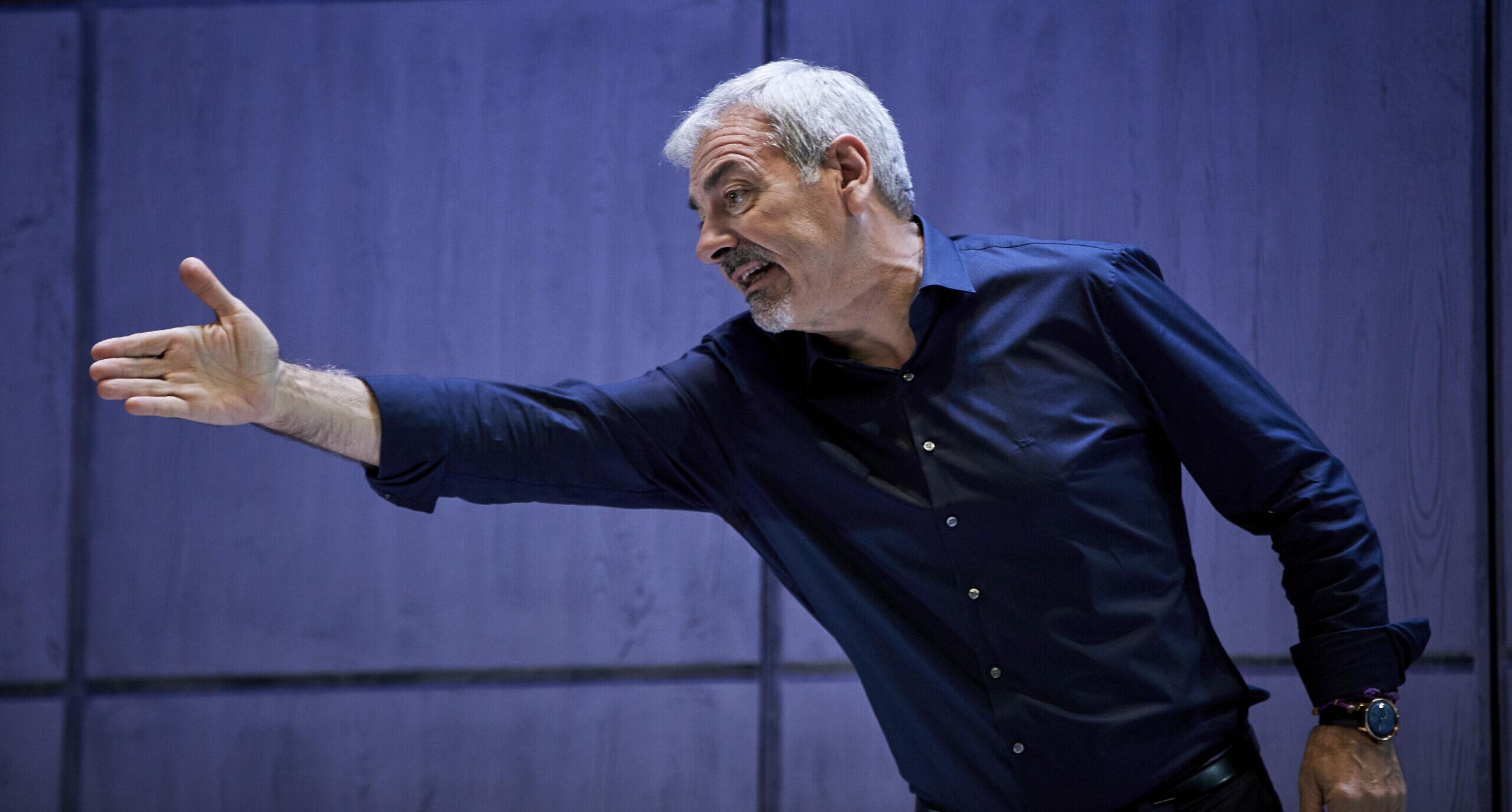 Carlos Sobera, durant la presentació de la seva obra de teatre - Europa Press