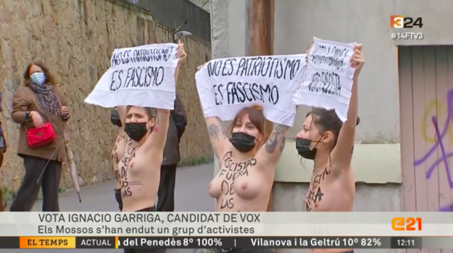 Activistes de Femen contra Vox