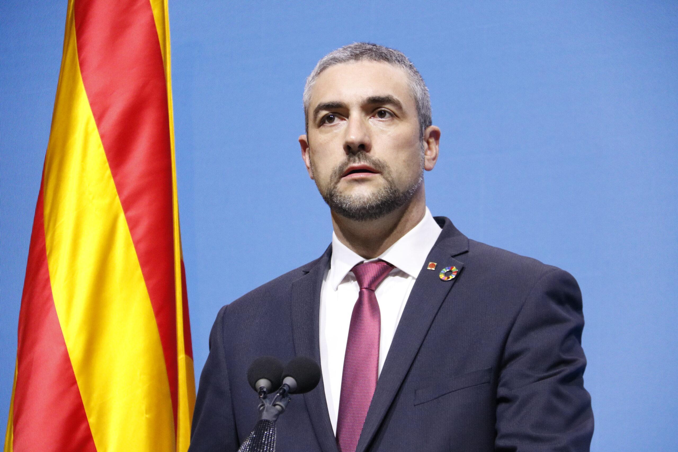El conseller d'Acció Exterior, Relacions Institucionals i Transparència, Bernat Solé   ACN
